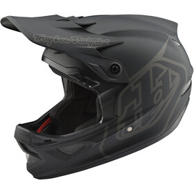 Troy Lee Designs D3 Fiberlite Sykkelhjelmer mono/black